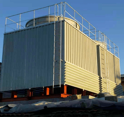 count-flow cooling tower