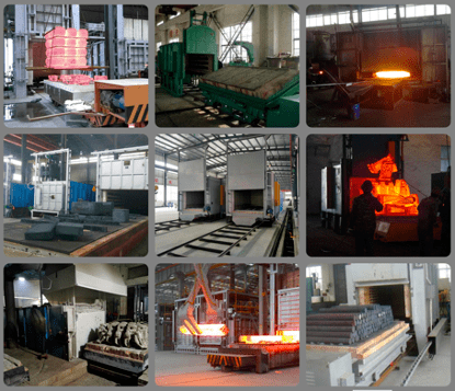 Resistance heating Furnace working site